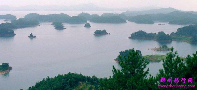 —【千岛湖】中心湖区(因湖中有1078个翠岛而得名),乘船游览千岛