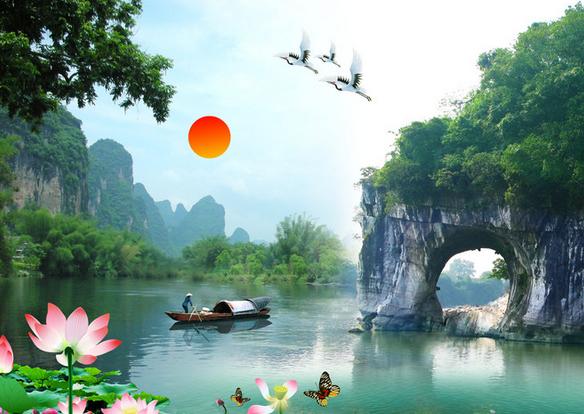 王城、遇龙河、银子岩、世外桃源、印象刘三姐五星团